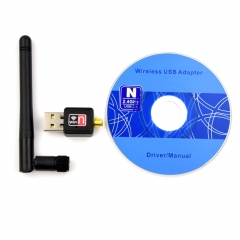 Adeept USB WiFi Wireless Adapter Dongle LAN Card 802.11n/g/b with Antenna for Raspberry Pi