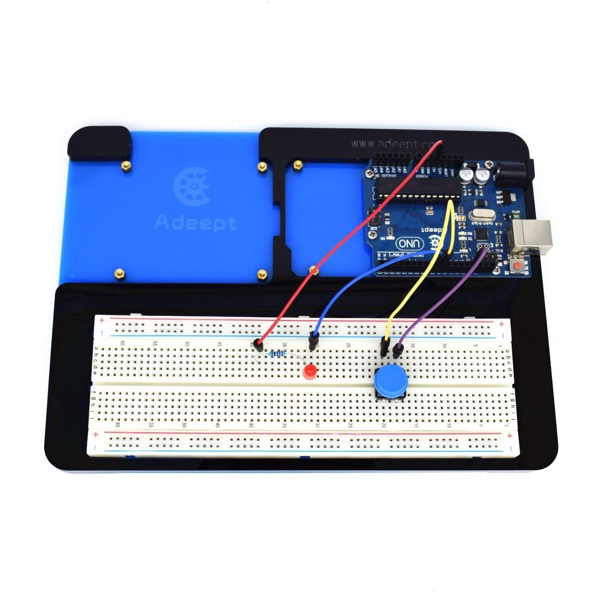 Adeept acrylic in breadboard holder for arduino uno r