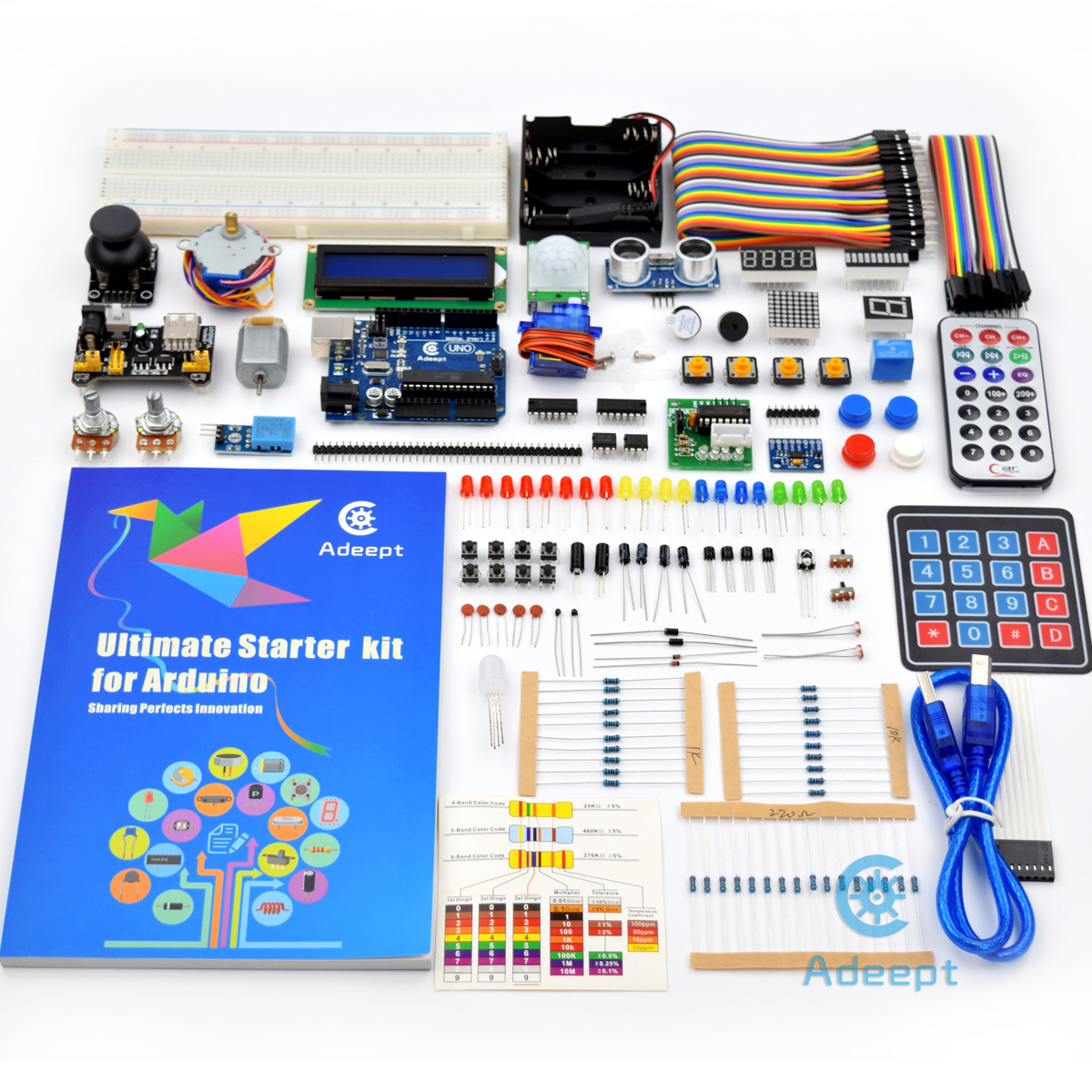 Adeept ultimate starter kit for arduino uno r lcd