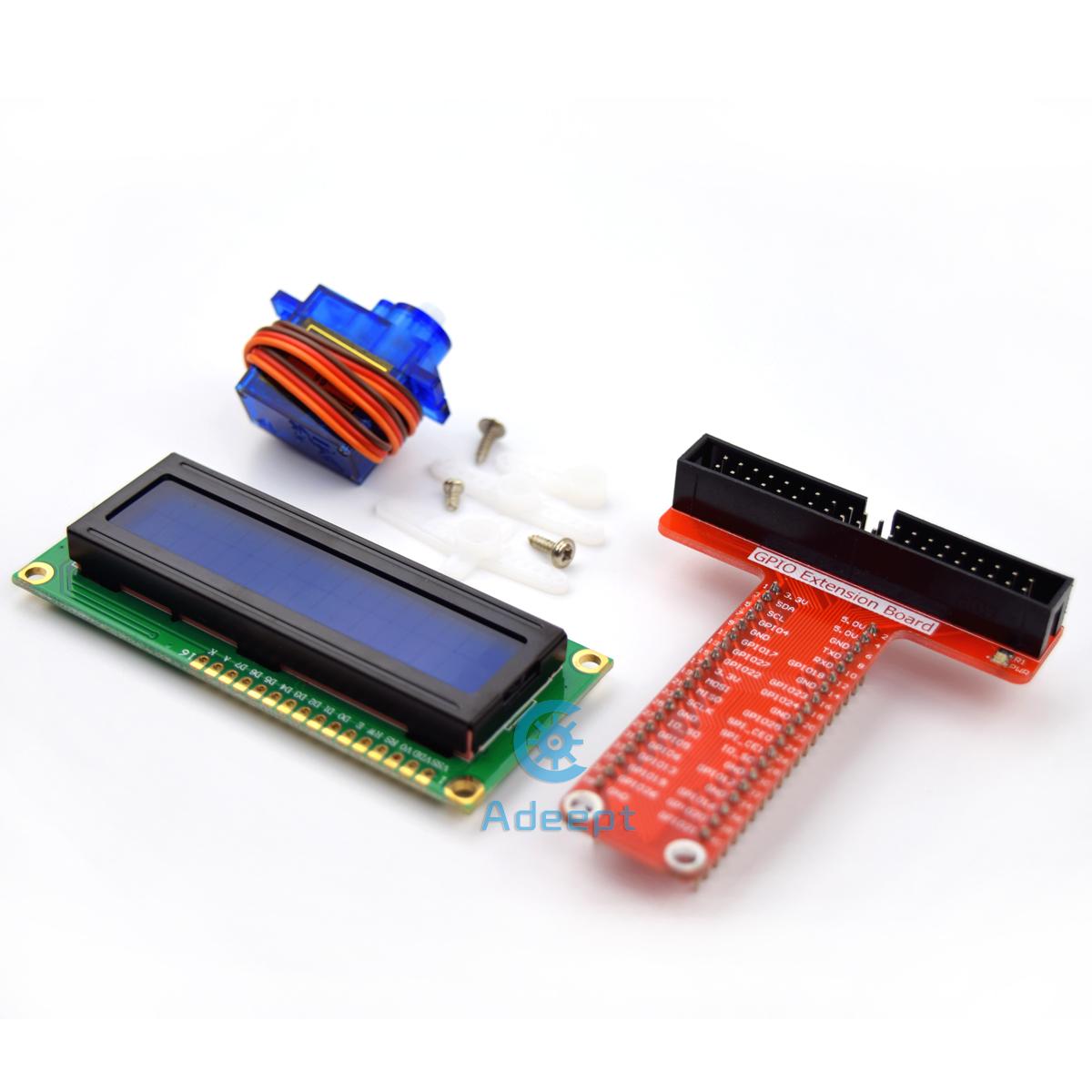 Adeept Super Starter Kit For Raspberry Pi 3 2 Model B B Lcd1602