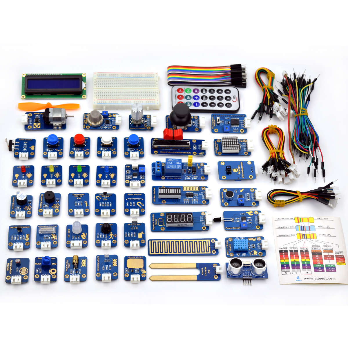 Adeept modules ultimate sensor kit for arduino uno r