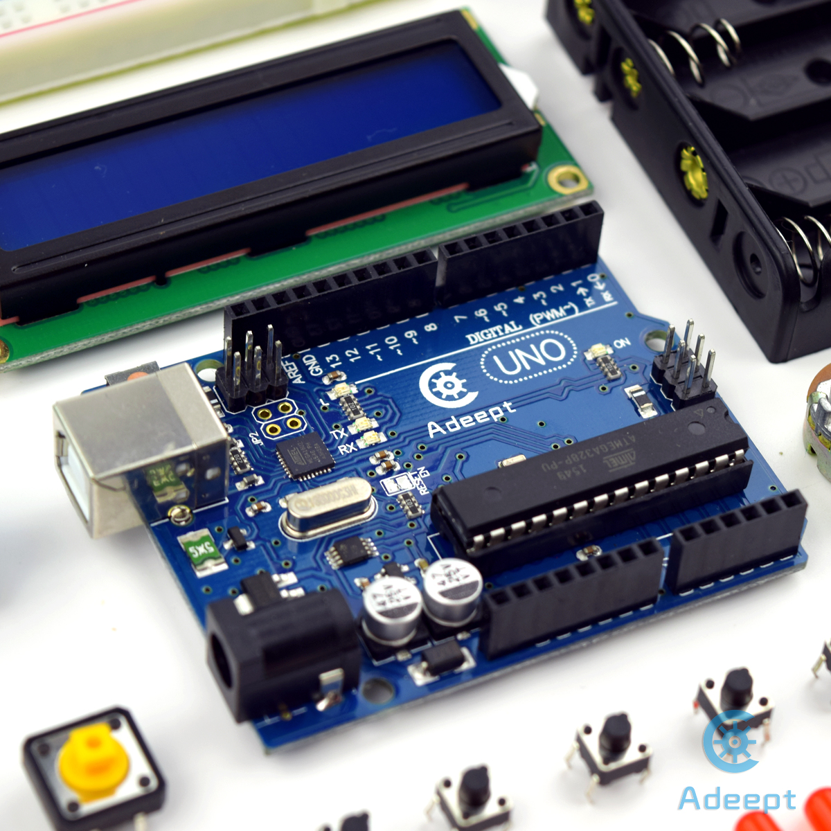 Adeept Ultrasonic Distance Sensor Starter Kit For Arduino Uno R3 Tutorial Lesson 3 Breadboards And Leds With Code