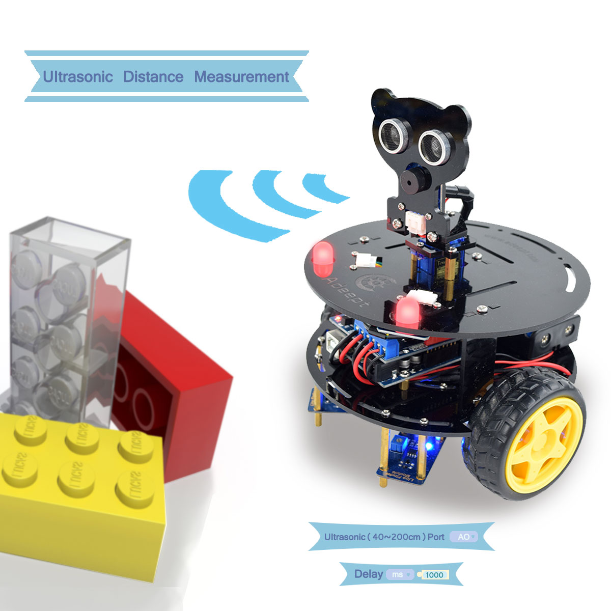 Adeept wd bluetooth smart robot car kit for arduino uno