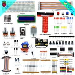 Adeept Super Starter Kit for Raspberry Pi 3, 2 Model B/B+, LCD1602, Servo, Motor, C and Python Code, Beginner/Starter Kit with PDF Guidebook