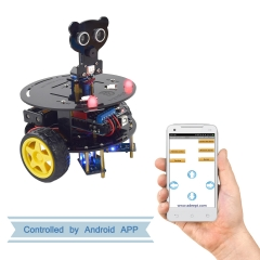 Adeept 3WD Bluetooth Smart Robot Car Kit for Arduino UNO R3, STEM Arduino Starter Learning Kit with PDF Tutorial