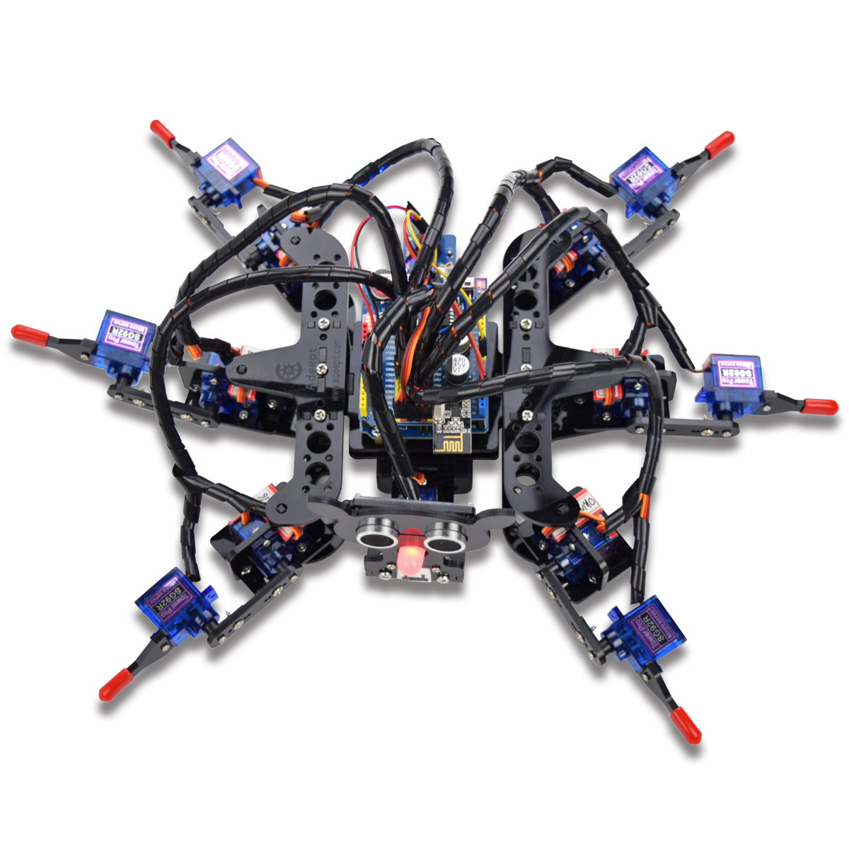 Adeept hexapod legs spider robot kit for arduino uno r