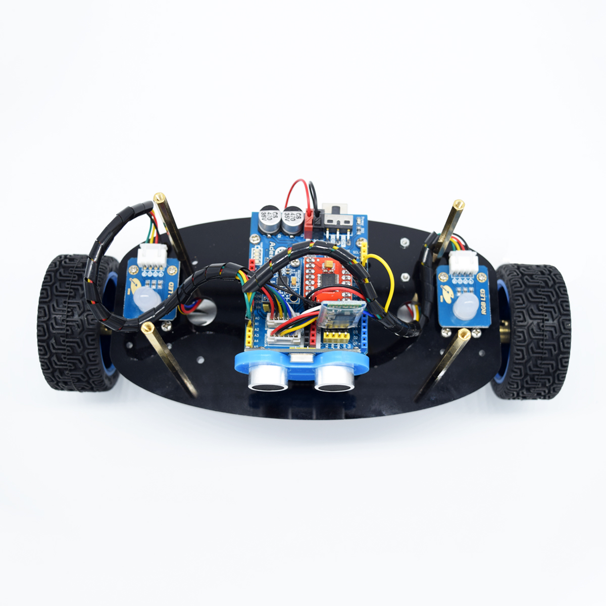 Wheel self balancing upright car robot kit for arduino