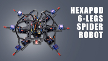 Hexapod 6 Legs Spider Robot Kit