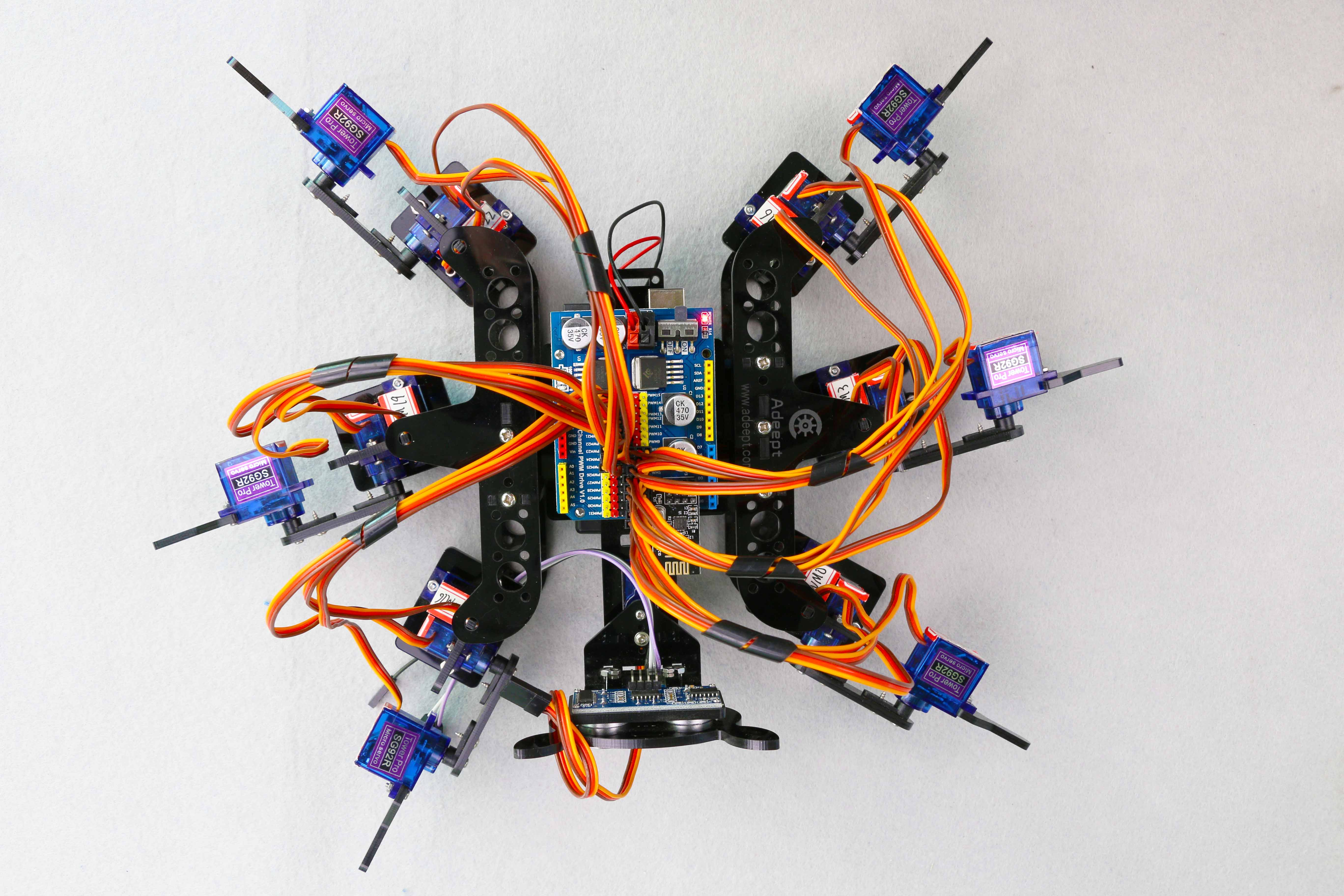 Spider Robot Encountered A Problem Summary Wire Harness Schematic Zumo 665 As Shown Belowdetect Whether There Is Smoke On The Circuit Board And Check Battery Cable Hot Or Not