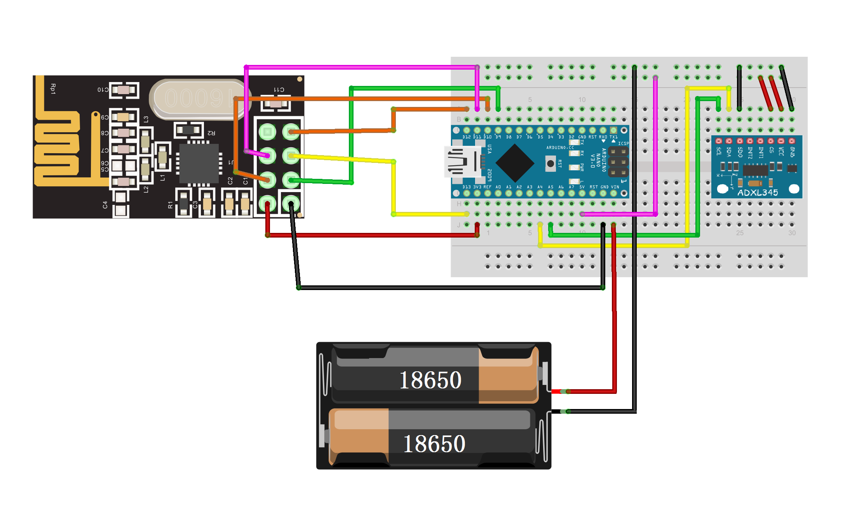 Diy A Acceleration Remote Control C11 Pc Wiring Diagram Connection Arduino Code Link U File 1802 C401ec59cczip