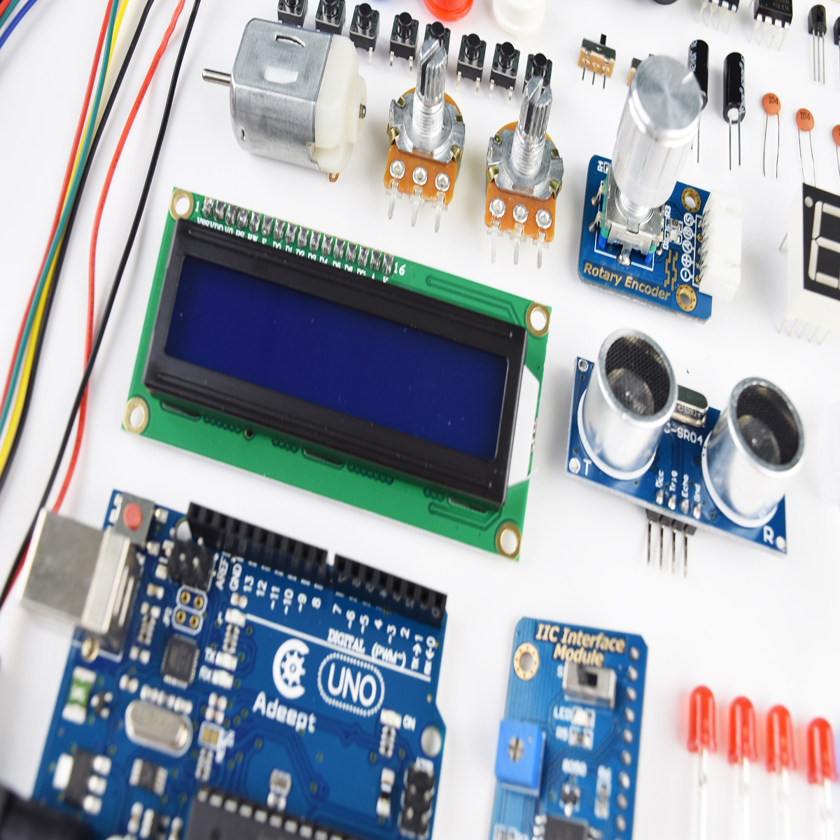 Adeept Primary Starter Kit For Arduino Uno R3 With 27 Projects Wiring Processing A