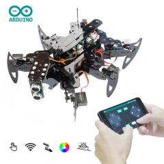 Adeept Hexapod Spider Robot Kit for Arduino with Android APP and Python GUI, Spider Walking Crawling Robot, STEAM Robotics Kit with PDF Manual