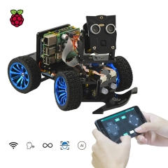 Adeept Mars Rover PiCar-B WiFi Smart Robot Car Kit for Raspberry Pi 4/3 Model B+/B/2B, Speech Recognition, OpenCV Target Tracking, STEM Kit