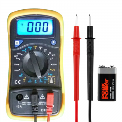 Adeept Digital Multimeter, Volt Ohm Amp Meter, Voltage Tester with Continuity, Diode and Resistance Test