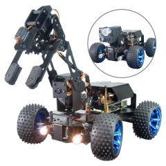 Adeept PiCar Pro Smart Robot Car Kit 2-in-1 4WD Car Robot with 4-DOF Robotic Arm for Raspberry Pi