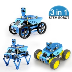 Adeept Alter All-in-One Raspberry Pi Smart Robot Car Kit , STEAM Robot Kit with OLED Display, OpenCV Target Tracking, Video Transmission