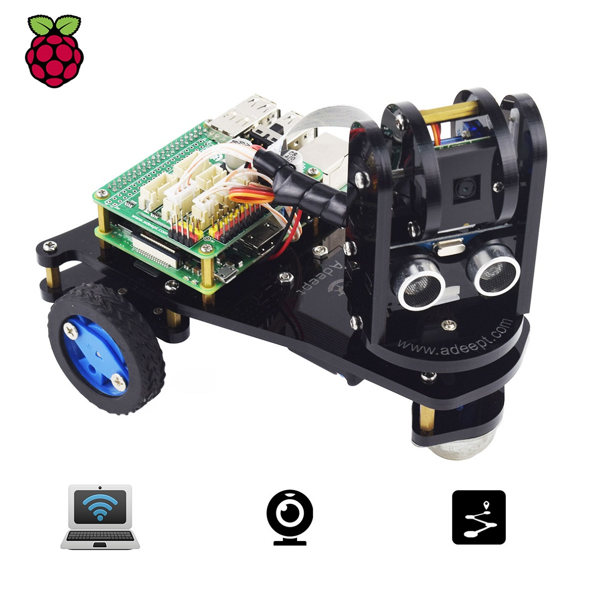 Installation of Raspberry PiCar-A Program with OpenCV FPV Function
