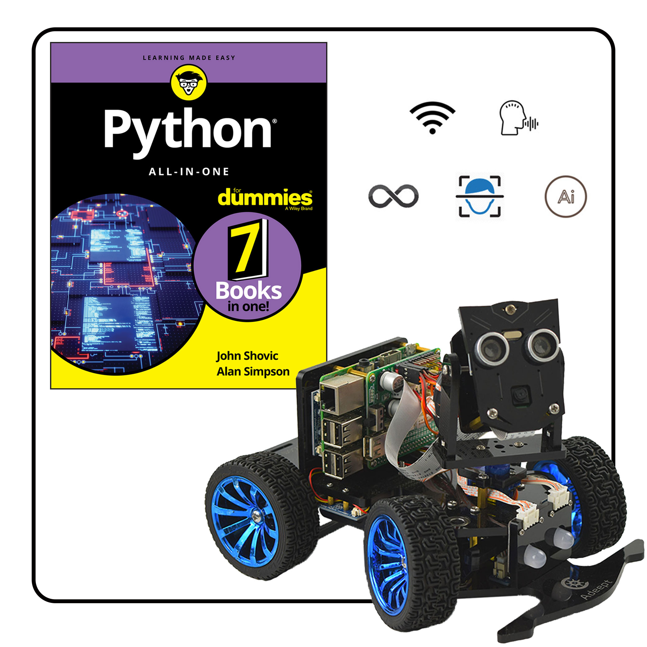 PiCar-B featured in book Python all-in-one