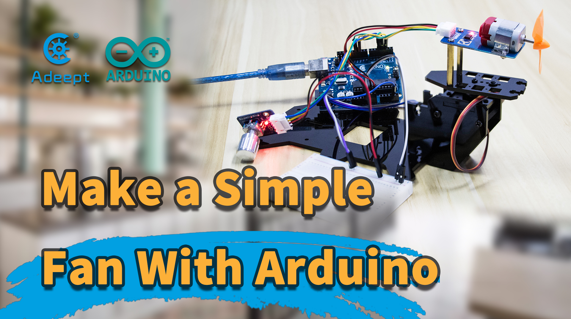 【Arduino】Simple fan with speed control and oscillating function