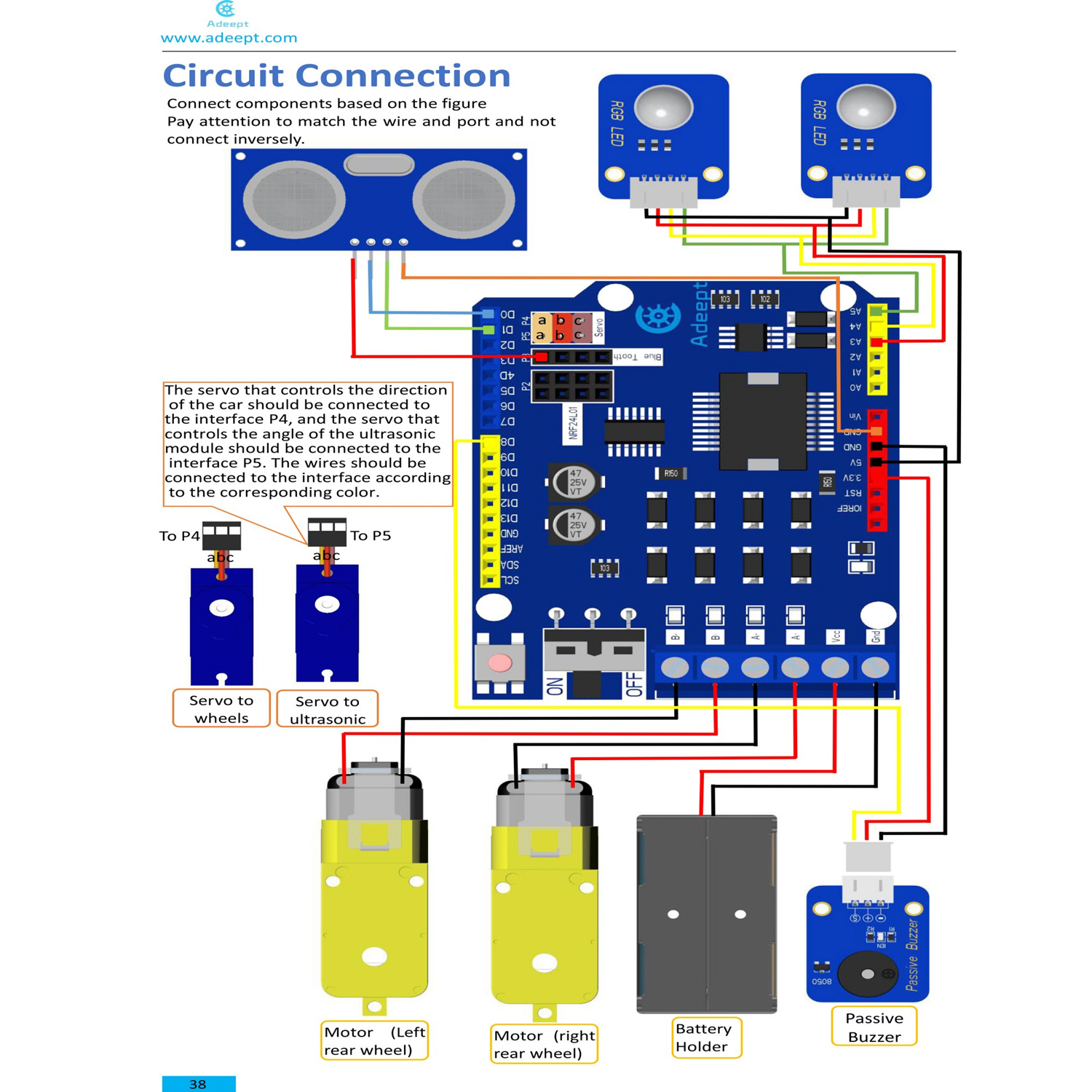 Adeept Remote Control Smart Car Kit For Arduino Based On