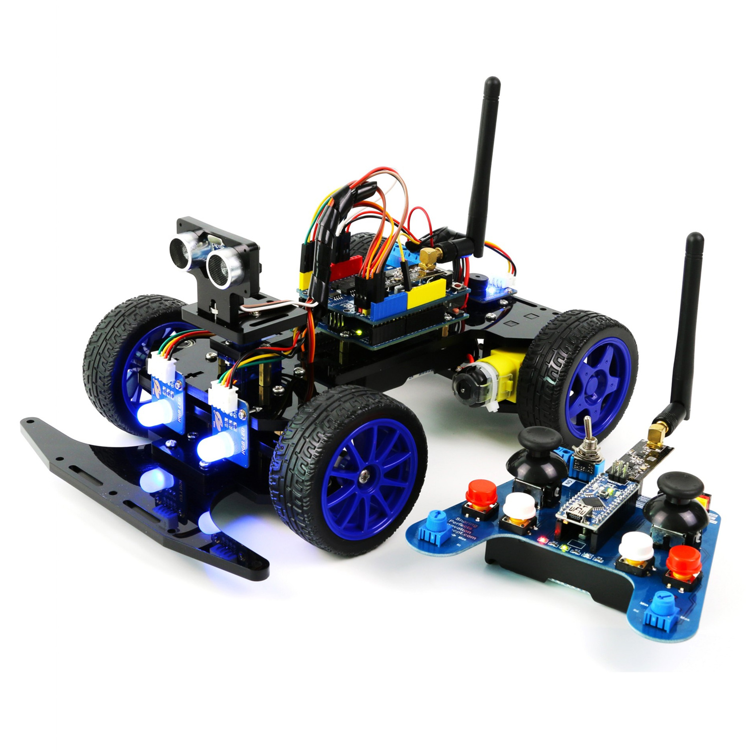 Adeept Remote Control Smart Car Kit for Arduino based on NRF24L01 2 4G  Wireless, Robot Starter Kit with PDF Guidebook/Tutorial