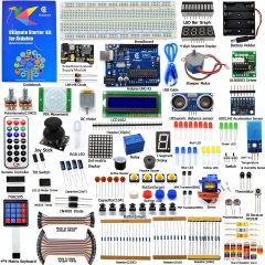 Adeept Ultimate Starter Kit for Arduino UNO R3, LCD1602, Servo Motor, Relay, Processing and C Code, Beginner Starter Kit with 140 Pages Guidebook