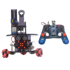 Adeept Omnidirectional Wheels Smart Car Kit for Arduino, Remote Control Car based on NRF24L01 2.4G Wireless, RC Car for Arduino UNO R3 and Nano