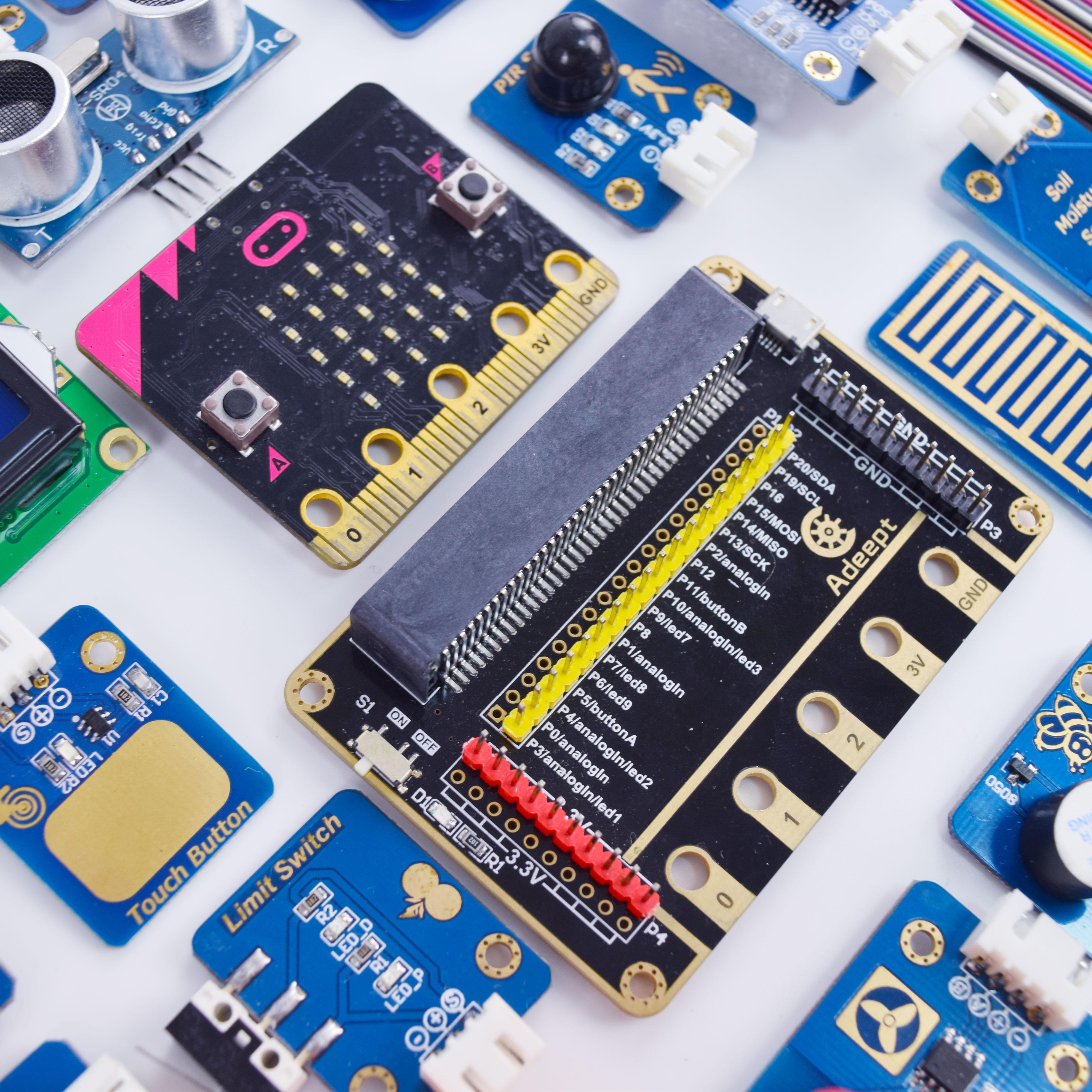 Adeept BBC Micro:bit Sensor Starter Kit | Microbit Programmable Starter Kit  for Micro:bit with 35 Projects Tutorial Book