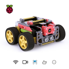 Adeept AWR 4WD WiFi Smart Robot Car Kit for Raspberry Pi 3 Model B+/B/2B, DIY Robot Kit for Kids and Adults, OpenCV Target Tracking
