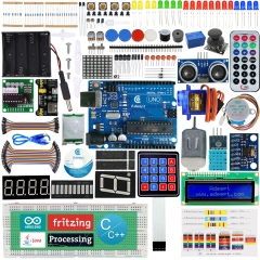 Adeept Ultimate Starter Kit for Arduino UNO R3, LCD1602, Servo Motor, Relay, Processing and C Code, Beginner Starter Kit with 140 Pages PDF Guidebook