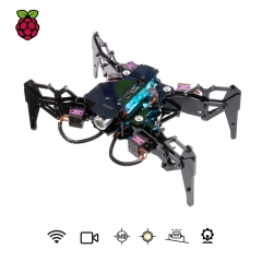 Adeept DarkPaw Bionic Hexapod Spider Robot Kit for Raspberry Pi 3 Model B+/B/2B, STEM Crawling Robot, OpenCV Tracking, Self-stabilizing