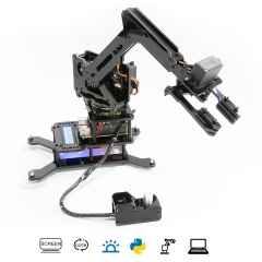 Adeept RaspArm 4-DOF Robotic Arm Kit for Raspberry Pi 4/3 Model B/B+/2B | Robot Arm Kit with Python PC Software and Remote Control