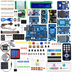 Adeept Upgrade Ultimate Starter Kit Compatible with Arduino IDE, Drag-and-Drop Coding, C & Python Code, 37 Projects, 628 Pages PDF Tutorial