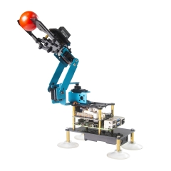 Adeept RaspArm-S 4-DOF Robotic Arm Kit for Raspberry Pi 4 3B 3B+ | Programmable Robot DIY Coding Robot Kit | STEAM Robot Arm Kit
